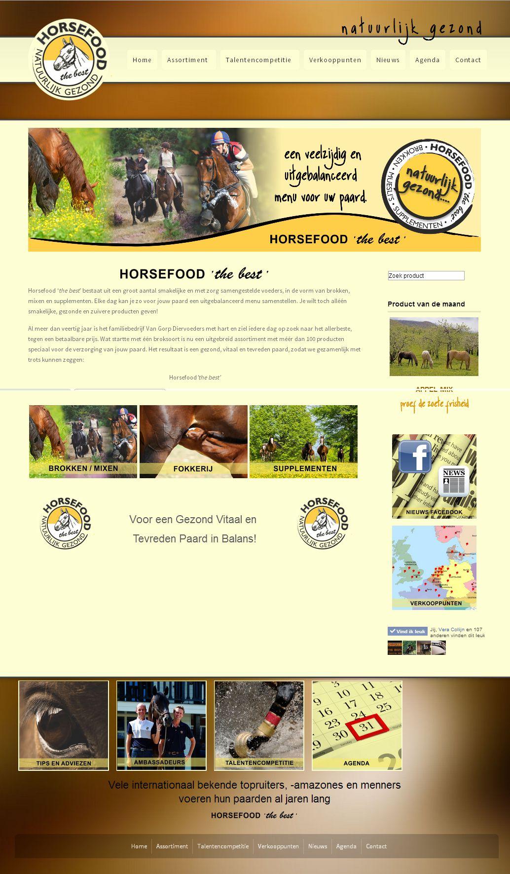 Nieuwe website HorsefoodTheBest.nl